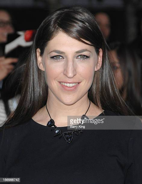 Actress Mayim Bialik attends the premiere of The Twilight Saga Breaking Dawn Part 2 at Nokia Theatre LA Live on November 12 2012 in Los Angeles...