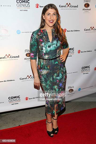 Actress Mayim Bialik attends the Save The Children Foundation celebration of 'Comic Genius Portraits Of Funny People' at Bergamot Station on November...