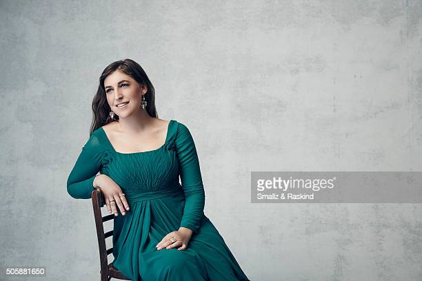 Actress Mayim Bialik poses for a portrait during the 21st Annual Critics' Choice Awards at Barker Hangar on January 17 2016 in Santa Monica California