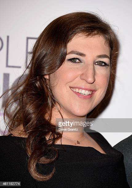 Actress Mayim Bialik poses in the press room at the 41st Annual People's Choice Awards at Nokia Theatre LA Live on January 7 2015 in Los Angeles...