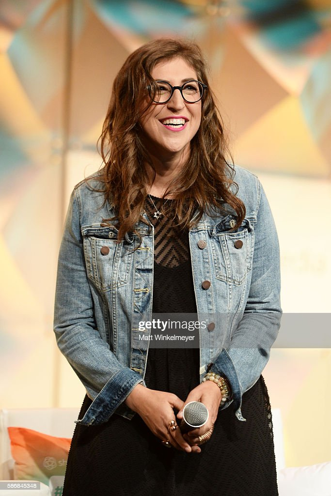 Actress Mayim Bialik speaks onstage during the #BlogHer16 Experts Among Us Conference at JW Marriott Los Angeles at L.A. LIVE on August 5, 2016 in Los Angeles, California.