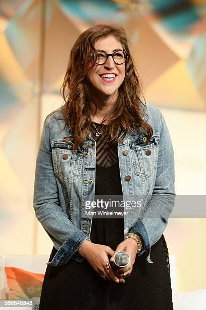 Actress Mayim Bialik speaks onstage during the #BlogHer16 Experts Among Us Conference at JW Marriott Los Angeles at LA LIVE on August 5 2016 in Los...
