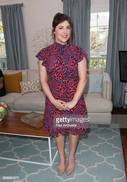 Actress Mayim Bialik visit Hallmark's Home Family at Universal Studios Hollywood on May 15 2018 in Universal City California