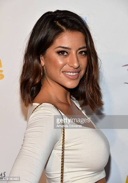 Actress Mayra Leal arrives at the Los Angeles special screening of Ur In Analysis at the Egyptian Theatre on July 1 2015 in Hollywood California