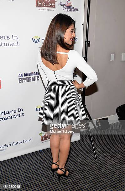 Actress Mayra Leal attends the 6th Annual Experience Strength And Hope Awards at Skirball Cultural Center on February 26 2015 in Los Angeles...