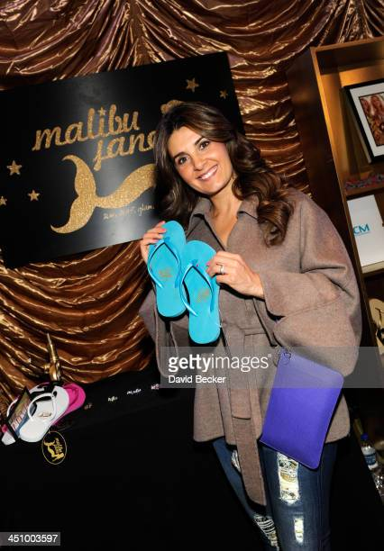 Actress Mayrin Villanueva attends a gift lounge during the 14th annual Latin GRAMMY Awards at the Mandalay Bay Events Center on November 20 2013 in...