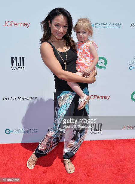 Actress Mayte Garcia and daughter Gia attend the Ovarian Cancer Research Fund's Inaugural Super Saturday LA hosted by Molly Sims and Rachel Zoe at...