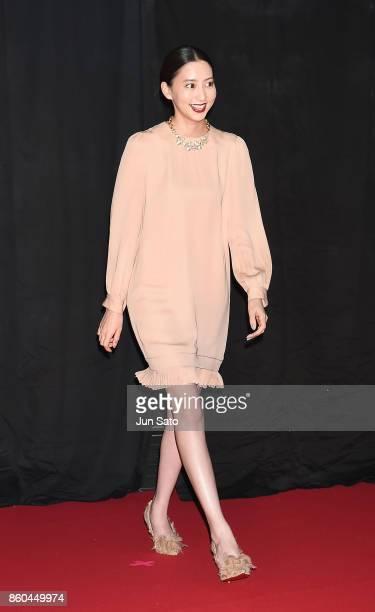 Actress Mayuko Kawakita attends the Disney Channel's 'Descendants 2' Premiere at Toranomon Hills on October 12 2017 in Tokyo Japan