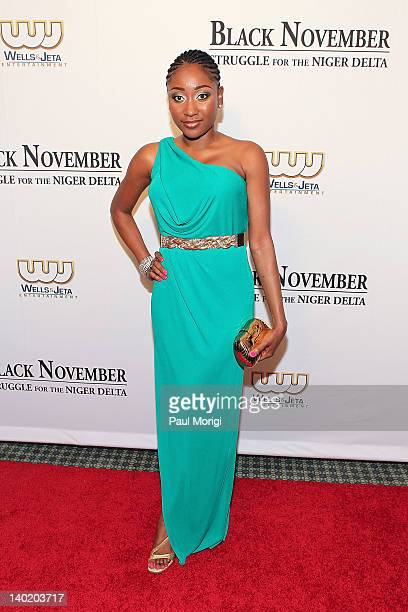 Actress Mbong Amata attends the 'Black November' film screening at The Library of Congress on February 29 2012 in Washington DC