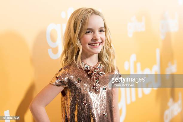 Actress Mckenna Grace arrives at the premiere of Fox Searchlight Pictures' 'Gifted' at Pacific Theaters at the Grove on April 4 2017 in Los Angeles...
