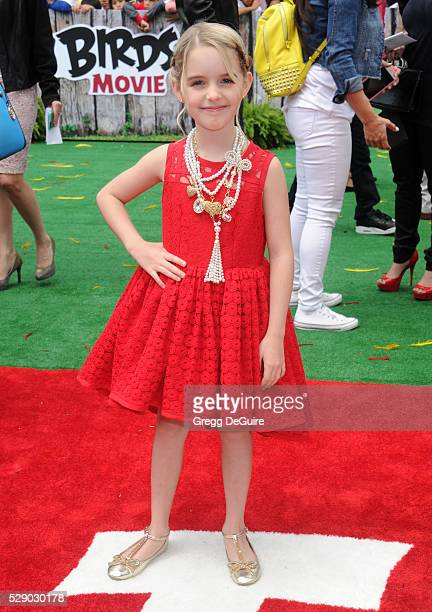 Actress McKenna Grace arrives at the premiere of Sony Pictures' The Angry Birds Movie at Regency Village Theatre on May 7 2016 in Westwood California