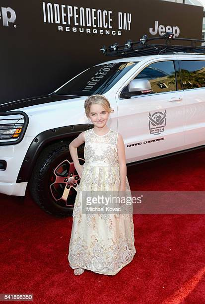 Actress Mckenna Grace attends the 'Independence Day Resurgence' premiere sponsored by Jeep at TCL Chinese Theatre on June 20 2016 in Hollywood...