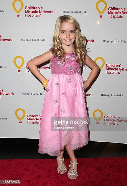 Actress Mckenna Grace attends the Jennifer Lopez and Marie Osmond launch of the Put Your Money Where The Miracles Are campaign at Avalon on May 14...