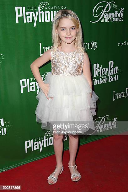 Actress McKenna Grace attends the opening night of 'Peter Pan And Tinker Bell A Pirates Christmas' at Pasadena Playhouse on December 9 2015 in...