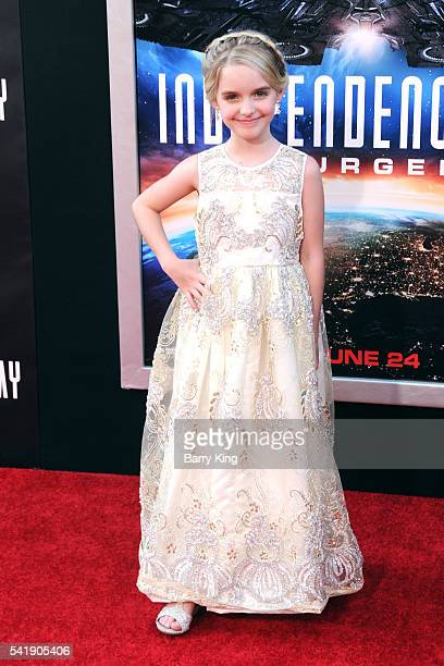 Actress Mckenna Grace attends the premiere of 20th Century Fox's' 'Independence Day Resurgence' at TCL Chinese Theatre on June 20 2016 in Hollywood...