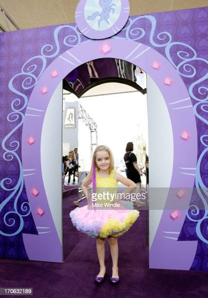 Actress Mckenna Grace attends the 'Purple Carpet' premiere of 'My Little Pony Equestria Girls' presented by Hasbro Studios and LAFF at Regal Cinemas...