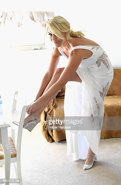 Actress McKenzie Westmore who was married to Patrick Tatopoulos at the Chateau Le Dome, Saddlerock Ranch Winery on October 11, 2015 in Malibu,...