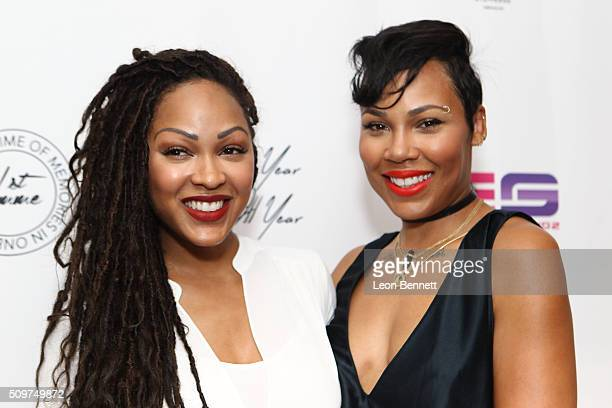 Actress Meagan Good and La'Myia Good attended the La'Myia Good Hosts 1st Femme Fragrance Launch on February 11 2016 in Hollywood California