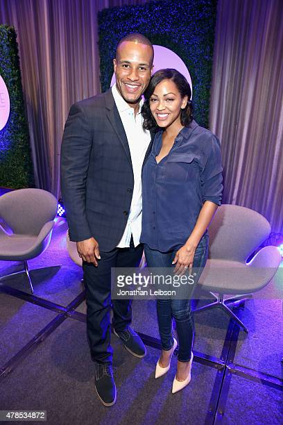 Actress Meagan Good and producer DeVon Franklin attend The 2015 PURPOSE The Family Entertainment FaithBased Summit presented by Variety on June 25...