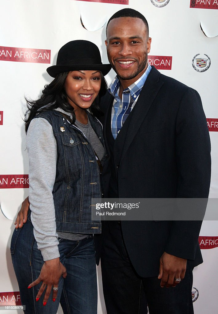 Actress Meagan Good and studio executive DeVon Franklin attends 21st Annual Pan African Film Festival 'Double Header' Closing Night at Rave Cinemas on February 11, 2013 in Los Angeles, California.