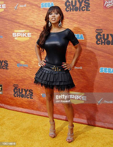 Actress Meagan Good arrives at Spike TV's 2nd Annual 'Guys Choice' Awards at Sony Studios on May 30 2008 in Culver City California