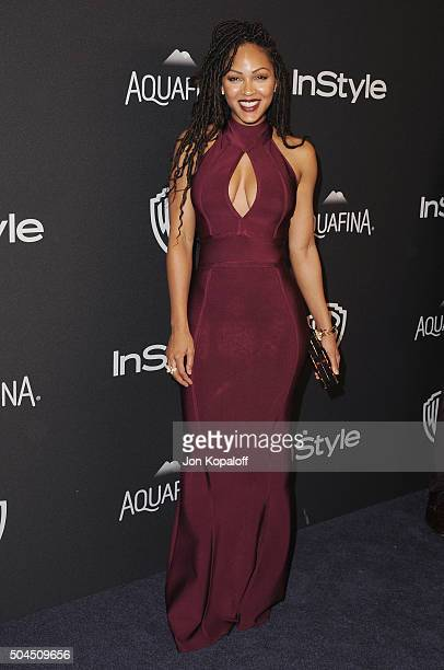 Actress Meagan Good arrives at the 2016 InStyle And Warner Bros 73rd Annual Golden Globe Awards PostParty at The Beverly Hilton Hotel on January 10...