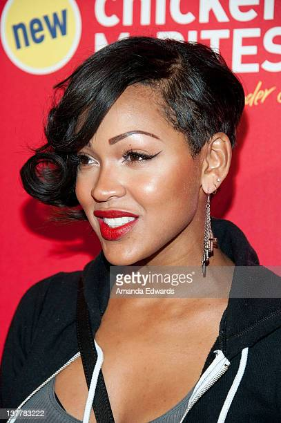 Actress Meagan Good arrives at the celebrity launch party of McDonald's new Chicken McBites at Siren Studios on January 26 2012 in Hollywood...
