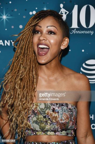 Actress Meagan Good arrives at the Essence 10th Annual Black Women in Hollywood Awards Gala at the Beverly Wilshire Four Seasons Hotel on February...
