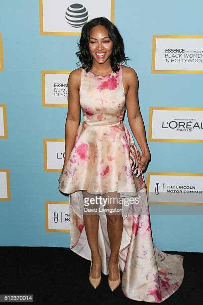 Actress Meagan Good arrives at the Essence 9th Annual Black Women event in Hollywood at the Beverly Wilshire Four Seasons Hotel on February 25 2016...