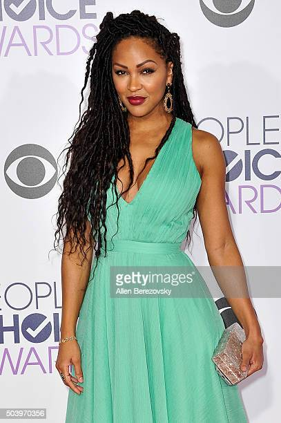 Actress Meagan Good arrives at the People's Choice Awards 2016 at Microsoft Theater on January 6 2016 in Los Angeles California