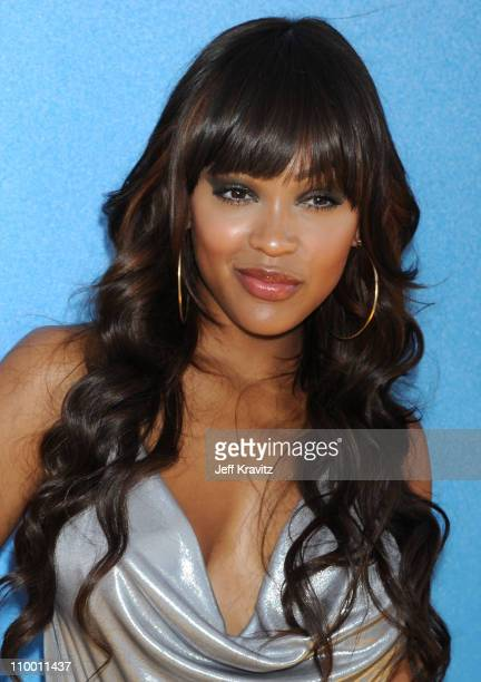 Actress Meagan Good arrives to the 2008 MTV Movie Awards at the Gibson Amphitheatre on June 1, 2008 in Universal City, California.