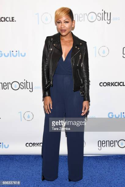 Actress Meagan Good attends a Generosityorg fundraiser for World Water Day at Montage Hotel on March 21 2017 in Beverly Hills California