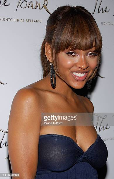 Actress Meagan Good attends a special evening hosted by Meagan Good at The Bank Nightclub at Bellagio on August 15 2008 in Las Vegas Nevada