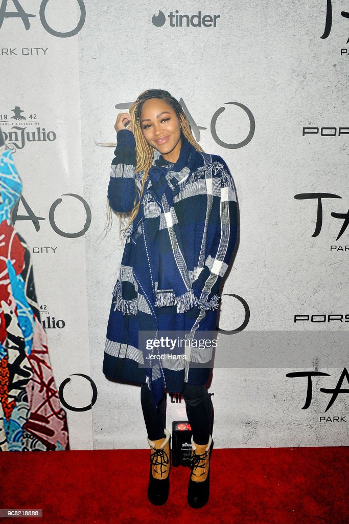 Actress Meagan Good attends TAO Park City Presented by Tinder and Tequila Don Julio at TAO Park City on January 20, 2018 in Park City, Utah.