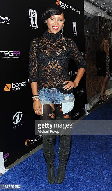 Actress Meagan Good attends the 2011 NBA AllStar Weekend Boost Mobile Launch Party at Avalon on February 18 2011 in Hollywood California