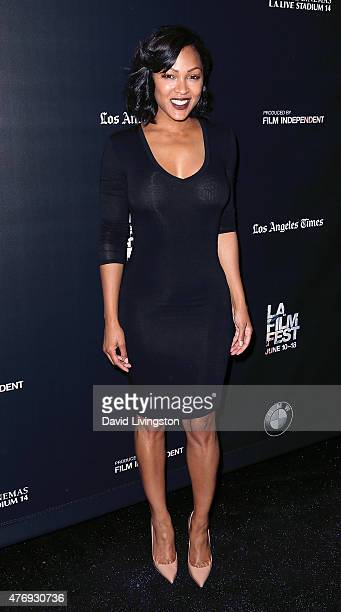 Actress Meagan Good attends the 2015 Los Angeles Film Festival screening of 'A Girl Like Grace' at Regal Cinemas LA Live on June 12 2015 in Los...