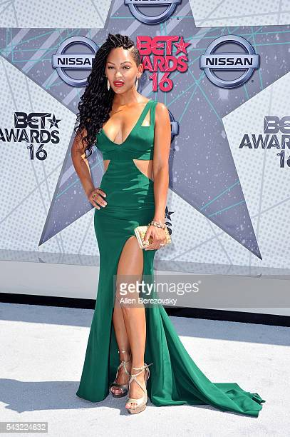 Actress Meagan Good attends the 2016 BET Awards at Microsoft Theater on June 26 2016 in Los Angeles California