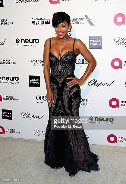Actress Meagan Good attends the 23rd Annual Elton John AIDS Foundation's Oscar Viewing Party on February 22 2015 in West Hollywood California