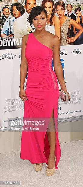 Actress Meagan Good attends the film premiere of TriStar Pictures' 'Jumping The Broom' at the Arclight Cinerama Dome on May 4 2011 in Los Angeles...