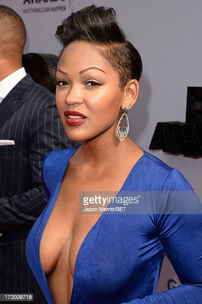 Actress Meagan Good attends the Ford Red Carpet at the 2013 BET Awards at Nokia Theatre LA Live on June 30 2013 in Los Angeles California