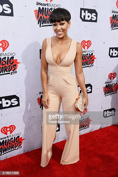 Actress Meagan Good attends the iHeartRadio Music Awards at The Forum on April 3 2016 in Inglewood California