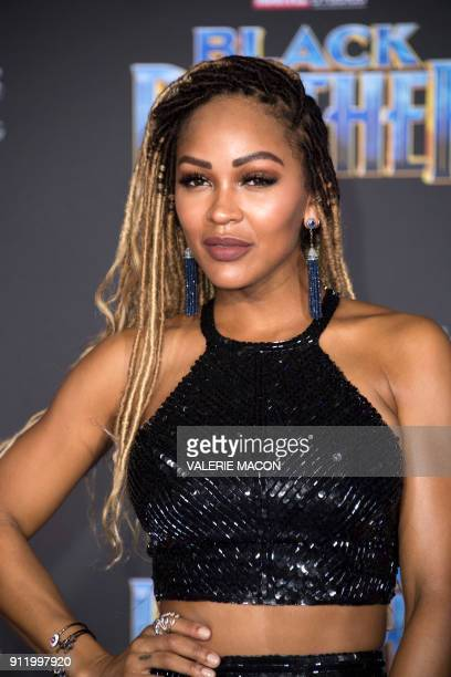 Actress Meagan Good attends the world premiere of Marvel Studios Black Panther, on January 29 in Hollywood, California. / AFP PHOTO / VALERIE MACON
