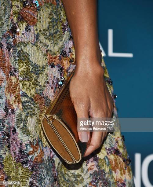 Actress Meagan Good, clutch detail, arrives at the Essence 10th Annual Black Women in Hollywood Awards Gala at the Beverly Wilshire Four Seasons...