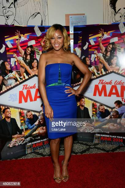 Actress Meagan Good walks the red carpet at Sony Pictures' Think Like a Man Too Red Carpet Screening at Prince Music Theatre on June 12 2014 in...