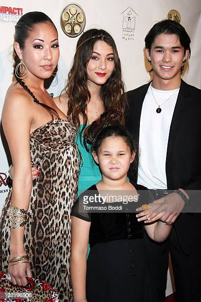 Actress Meagan Stewart Fivel Stewart Sage Stewart and Booboo Stewart attend the 21st Annual Los Angeles Music Awards held at Avalon on November 10...