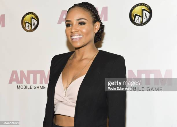 Actress Meagan Tandy arrives at the America's Next Top Model mobile game release at Avalon on May 3 2018 in Hollywood California