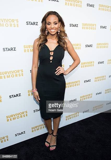 Actress Meagan Tandy attends Survivor's Remorse New York screening at Roxy Hotel on July 12 2016 in New York City