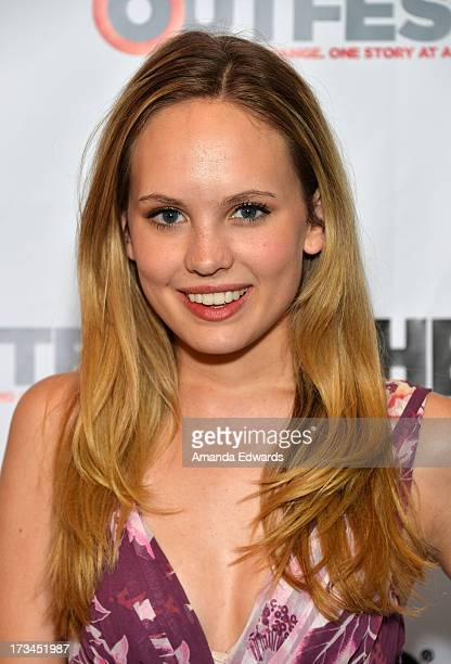 Actress Meaghan Martin arrives at the 31st Annual Outfest Los Angeles LGBT Film Festival screening of 'Geography Club' at Directors Guild Of America...