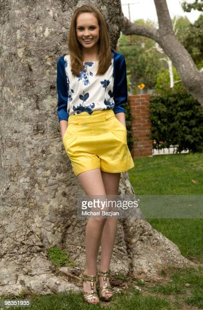 Actress Meaghan Martin poses during a photo shoot on April 8 2010 in Los Angeles California