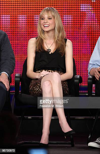 Actress Meaghan Martin speaks onstage at the ABC '10 Things I Hate About You' QA portion of the 2010 Winter TCA Tour day 4 at the Langham Hotel on...